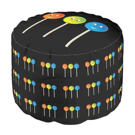Smiling lollipops pouf