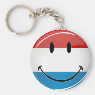 Smiling Luxembourg Flag Keychain