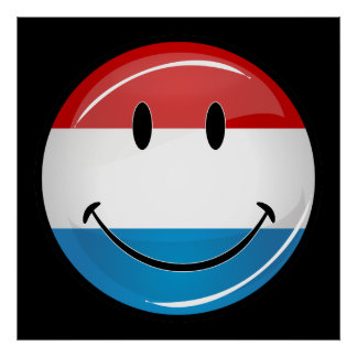 Smiling Luxembourg Flag Poster
