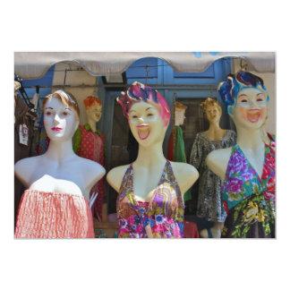 Smiling Mannequins Invitation