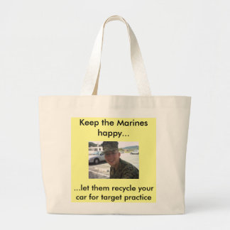 Smiling Marine Line Tote Bags