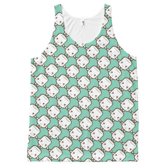 Smiling marshmallow All-Over print tank top