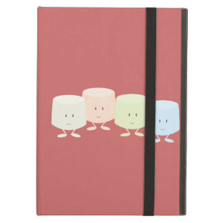 Smiling marshmallow group iPad air cases