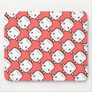 Smiling marshmallow mouse pad