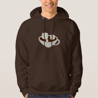 Smiling marshmallows in hot chocolate hoodie