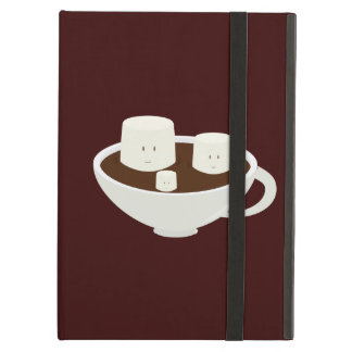 Smiling marshmallows in hot chocolate iPad air cover
