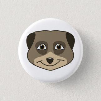 Smiling meerkat design pinback button