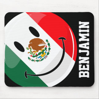Smiling Mexican Flag Mouse Pad
