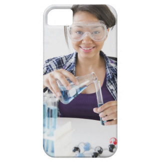 Smiling mixed race teenage girl conducting iPhone SE/5/5s case