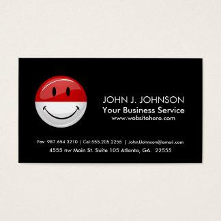 Smiling Monaco Flag Business Card