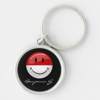 Smiling Monaco Flag Keychain