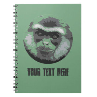 Smiling Monkey face custom spiral notebook (green)