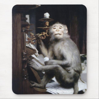 Smiling Monkey Mouse Pad