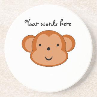 Smiling monkey sandstone coaster