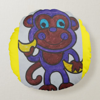 SMILING MONKEY THROW PILLOW