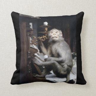 Smiling Monkey Throw Pillow