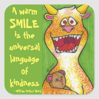 Smiling Monster with quote sticker