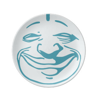 Smiling Moon Face Plate