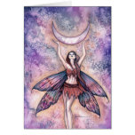 Smiling Moon Fairy Card by Molly Harrison