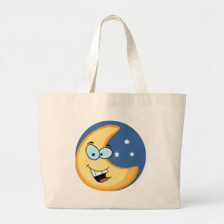 Smiling moon large tote bag