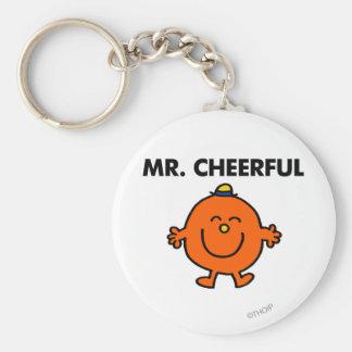 Smiling Mr. Cheerful Basic Round Button Keychain