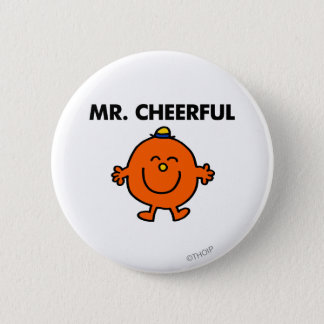 Smiling Mr. Cheerful Pinback Button