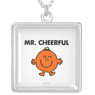 Smiling Mr. Cheerful Silver Plated Necklace