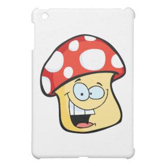 Smiling Mushroom Cartoon Character iPad Mini Cases