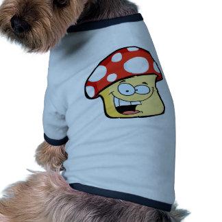 Smiling Mushroom cartoon Pet Shirt