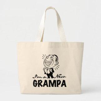 Smiling New Grampa T-shirts and Gifts Jumbo Tote Bag