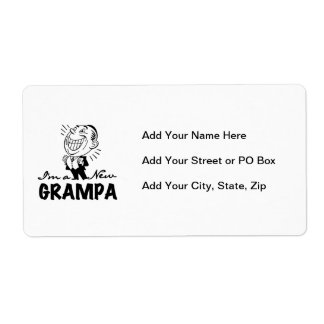 Smiling New Grampa T-shirts and Gifts Label