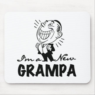 Smiling New Grampa T-shirts and Gifts Mouse Pad
