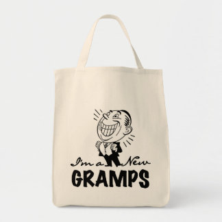 Smiling New Gramps T-shirts and Gifts Canvas Bags