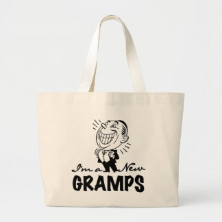 Smiling New Gramps T-shirts and Gifts Tote Bags