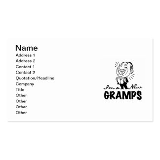 Smiling New Gramps T-shirts and Gifts Business Card