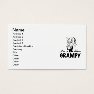 Smiling New Grampy T-shirts and Gifts Business Card