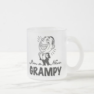 Smiling New Grampy T-shirts and Gifts Frosted Glass Coffee Mug