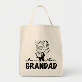 Smiling New Grandad T-shirts and Gifts Tote Bag