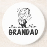 Smiling New Grandad T-shirts and Gifts Coaster