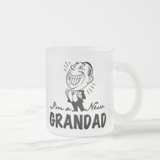 Smiling New Grandad T-shirts and Gifts Frosted Glass Coffee Mug
