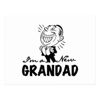 Smiling New Grandad T-shirts and Gifts Post Cards