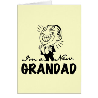 Smiling New Grandad T-shirts and Gifts Stationery Note Card