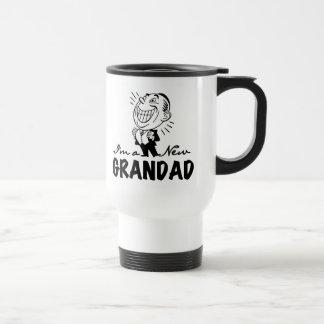 Smiling New Grandad T-shirts and Gifts Travel Mug
