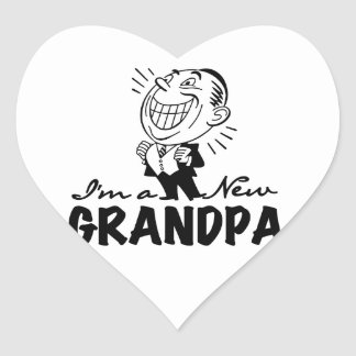 Smiling New Grandpa T-shirts and Gifts Heart Sticker