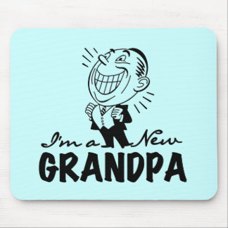 Smiling New Grandpa T-shirts and Gifts Mouse Pad