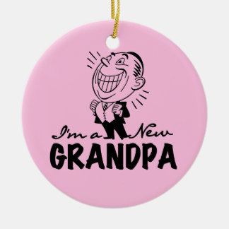 Smiling New Grandpa T-shirts and Gifts Ornament