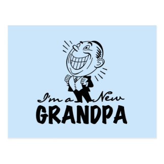 Smiling New Grandpa T-shirts and Gifts Postcard