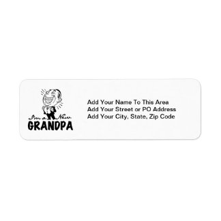 Smiling New Grandpa T-shirts and Gifts Return Address Label
