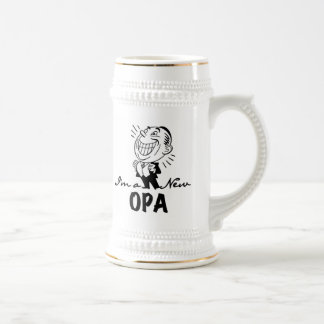 Smiling New Opa T-shirts and Gifts Beer Stein