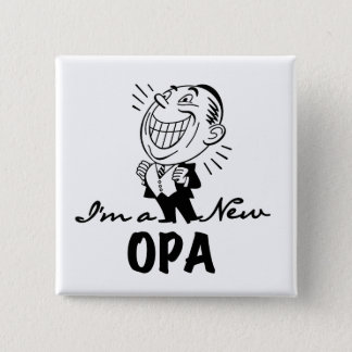 Smiling New Opa T-shirts and Gifts Button